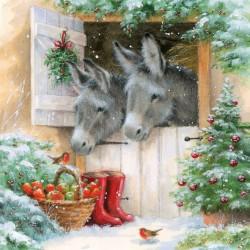 Santa's Donkeys Napkins