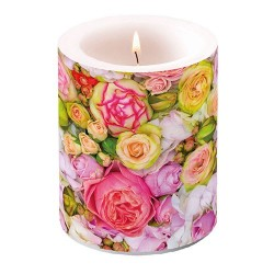 Bed of Roses Pillar Candle