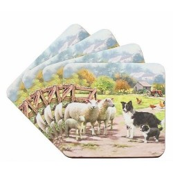 Collie and Sheep Coasters