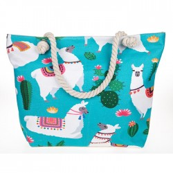 Pretty Tropical Llama Tote Bag