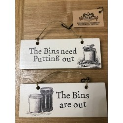 Bins In and Out Sign