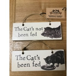 Cat Fed and Not Fed Sign