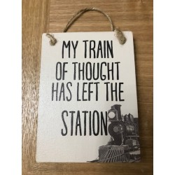 Train Of Thought Sign