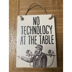 No Technology Sign