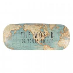 Vintage Map Glass Case