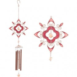Red Abstract Design Wind Chime