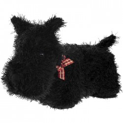 Black Fluffy Scottie Dog...