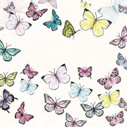 Butterfly White Napkins