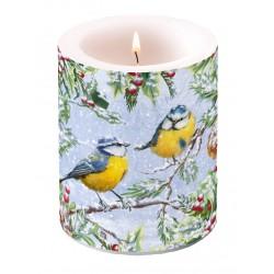 Chirping Birds Pillar Candle