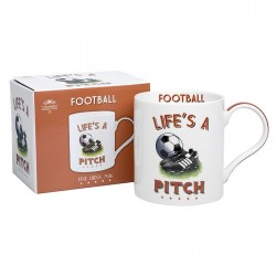 Football Themed Fine China Mug