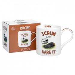 Rugby Themed Fine China Mug