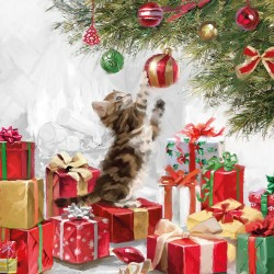 Kitten and Baubles Napkins