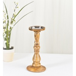 Mango Wood Small Candle Stand