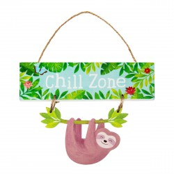 Sloth Hanging Plaque