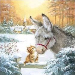 Donkey and Kitten Christmas...