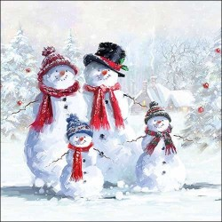 Snowmen with Hat Napkins