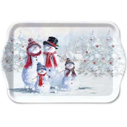 Snowmen with Hat Small Tray