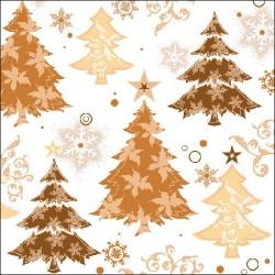 Copper Christmas Trees Napkins