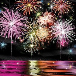 Fireworks Celebration Napkins