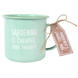 Gardening Therapy Enamel Mug