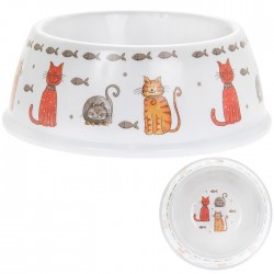 Faithful Friends Cat Bowl