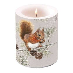 Squirrel in Winter Candle
