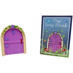 Pink Fairy Door With Purple...