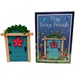 Turquoise Fairy Door With...
