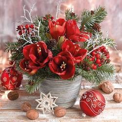 Amaryllis Bouquet Napkins