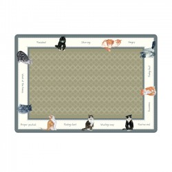 Small Cat Food Bowl Mat,...