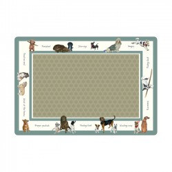 Small Dog Food Bowl Mat,...