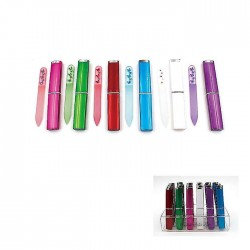 Green Glass Nail File in Case