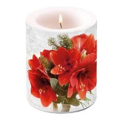 Amaryllis Pillar Candle
