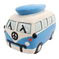 Blue Camper van Money Box