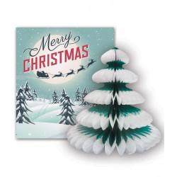 Santa Sleigh and Tree Card
