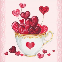 Cup of Hearts Napkins