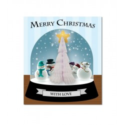 Snow Dome Tree Card