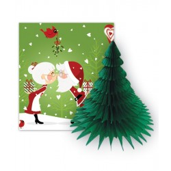 I Saw Mummy Kissing Santa Card