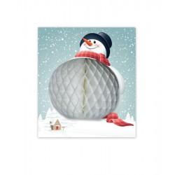 Large Snowman Card