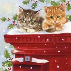 Postmaster Christmas Napkins