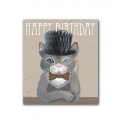 Top Hat Cat Card