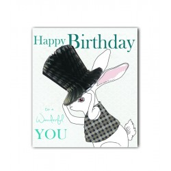 Top Hat Rabbit Card