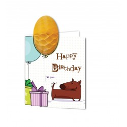 Dog With Balloon Card