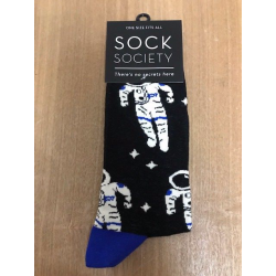 Astronauts blue Heel Socks